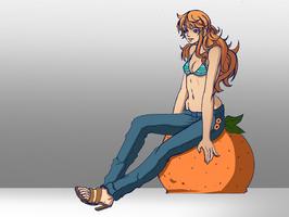 Nami on Orange by PhoenixRoy