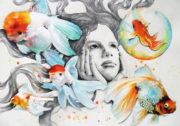 Goldfish by CarolCuibin