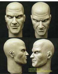 hitman head by chuchorojas