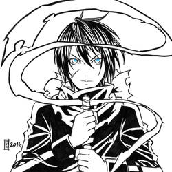 commission. Earthquake Relief 20 - Yato by maioceaneyes