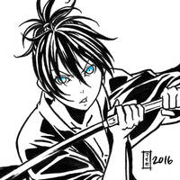 commission. Earthquake Relief 23 - Yato by maioceaneyes