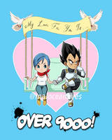 Commission. My Love For You Is Over 9000 by maioceaneyes