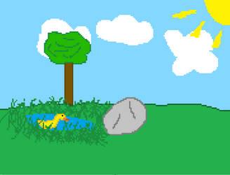 Just a pixel landscape.. by DominoBreaker