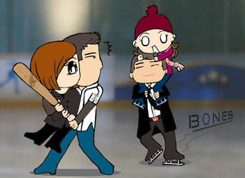 Bones VS. The X-Files by linapril30
