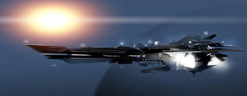 spaceship by polosatkin