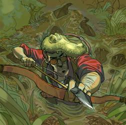 crocodile huntsman by Silsol