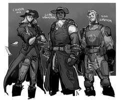 fallout characters by Silsol