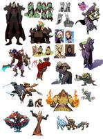 world of warcraft doodle dump by Silsol