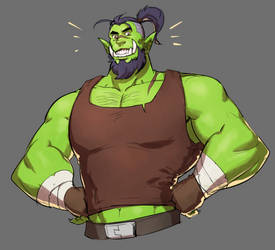 cool orc guy by Silsol