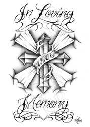 In loving memory cross by dfmurcia