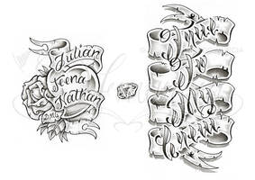 Banner lettering sheet by dfmurcia