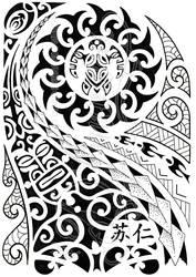 Polynesian half-sleeve 04 by dfmurcia