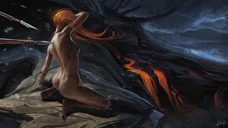 Sacrifice to the gods by Kimagu