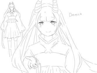 Domica Oc sketch by felixuxu