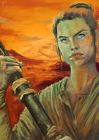Rey on Jakku by kalashnikovfs