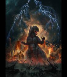 T-Shirt Illustration -Godzilla by IosifChezan