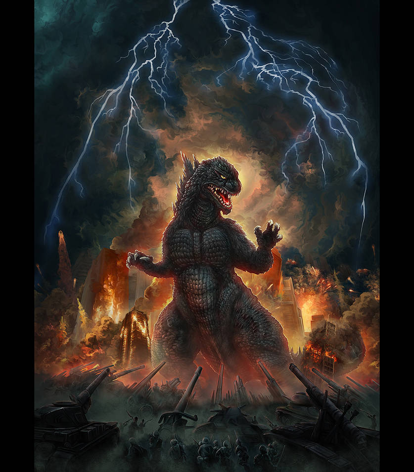 T-Shirt Illustration -Godzilla by IosifChezan