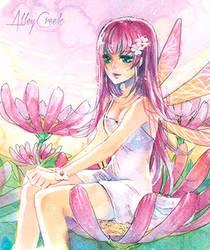 Pink fairy by AlleyCreek