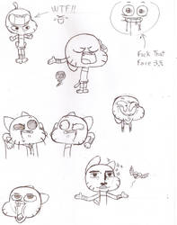 Sketch of Gumball #2 by lilie-pucisse