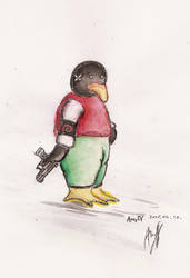 Debian Penguin And Walther P99 by imfromthespace