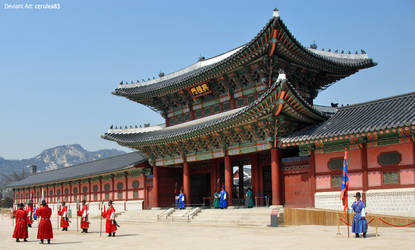 Gyeongbokgung Palace by Cerulea-blue