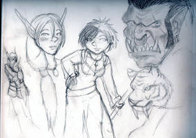 WoW Related Sketches by sweetmorpheus