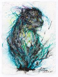 Blue Ink Leopard by huatunan