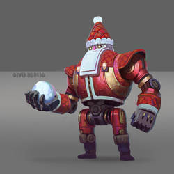 santa robot by Deviangread