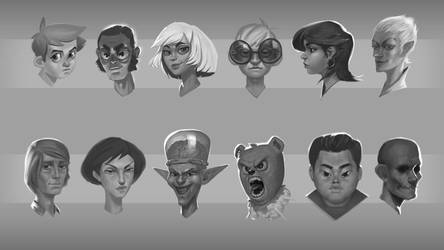 Heads part1 by Deviangread