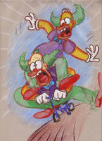 Homer the Klown by Morpheus306