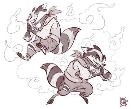 Konoha Animals-Raccoons by Morpheus306