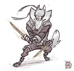 Animals of Konoha-Grey Wolf by Morpheus306
