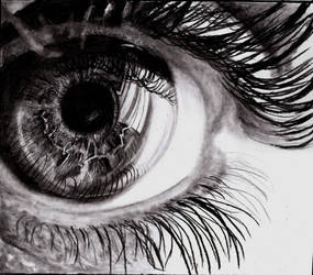 detail eyes drawing by SansKorn