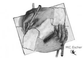 003 - Drawing Hands by NainaArt