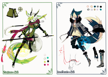 Custom Semi-chibi adoptables by Piku-chan21