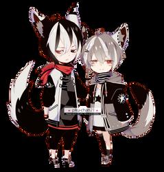 [ ENDED / Raffle Sale ] Couple Adoptables by Piku-chan21