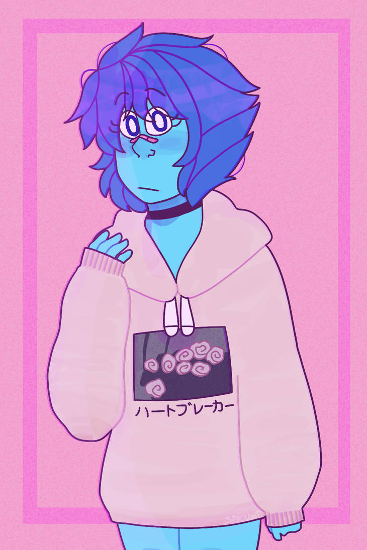 "her hoodie says "" heartbreaker"" redraw of this awful thing -->"