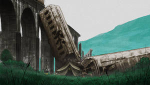 Train Wreck by JNathanIllustration