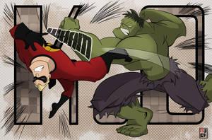 The Incredible Battle by JoshawaFrost