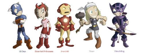 Avenger Kids NOW WITH HAWKEYE by JoshawaFrost