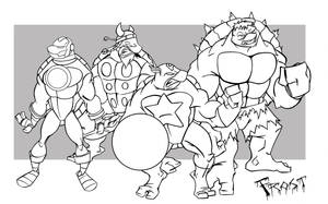 Teenage Mutant Avenger Turtles by JoshawaFrost