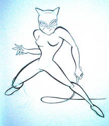 February Draw a Day- Day3- Catwoman by JoshawaFrost