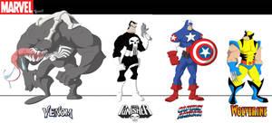 Marvel Line up by JoshawaFrost
