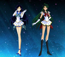 Sailor Pluto and Sailor Ocean by Bloom2