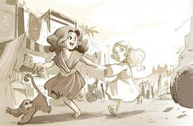 Anusha and Illyria by kappou-caroline