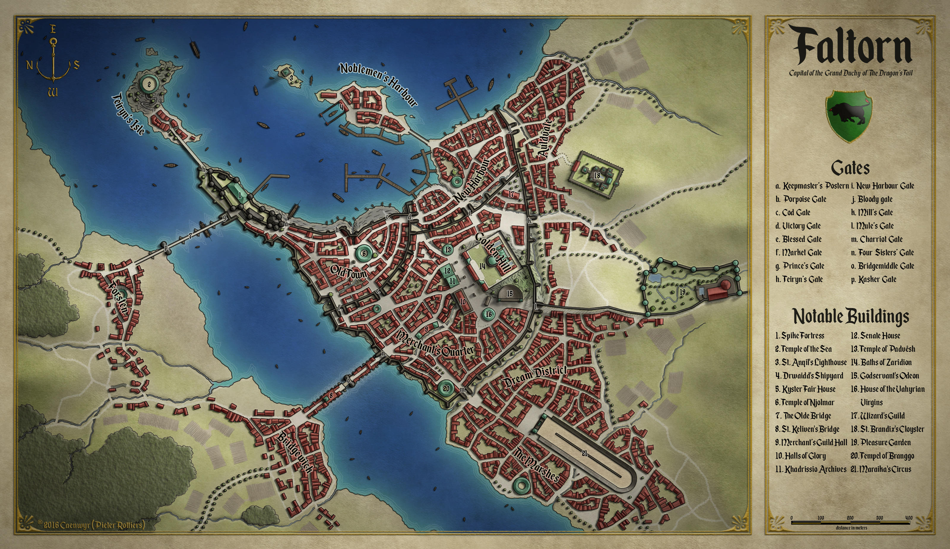 Faltorn, capital of the Dragon's Tail by Caenwyr