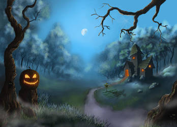 Jack-O-Lantern Path by coldwarSalty