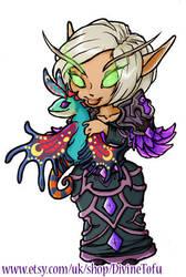 Neziah - WoW Chibi Blood Elf Mage by DivineTofu