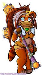 Stoneforge - WoW Chibi Pandaren Monk by DivineTofu