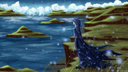Highland lake by Nevia92